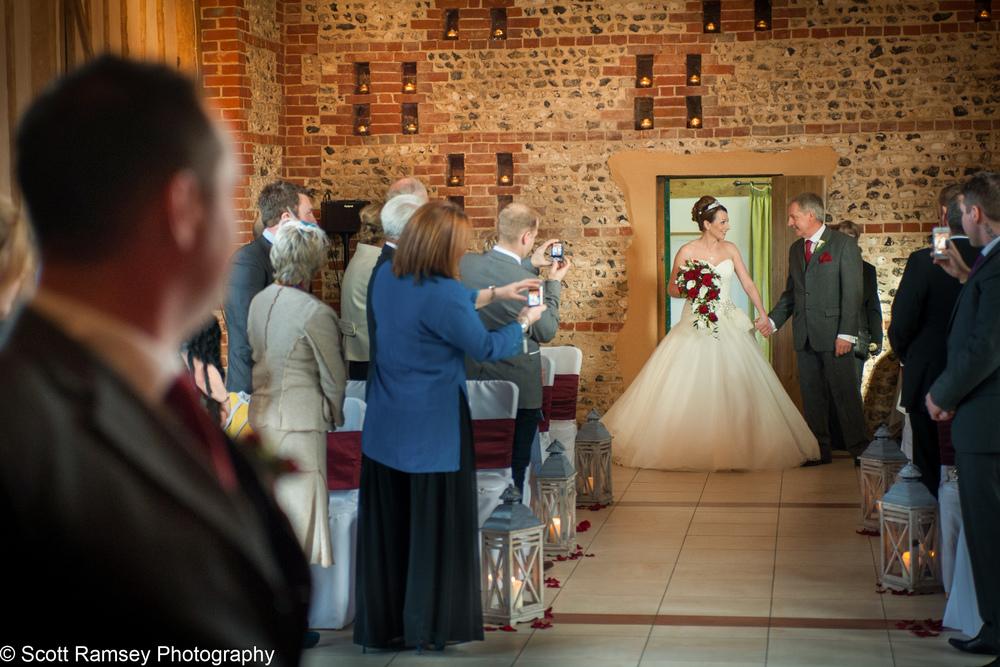 Upwaltham Barns Wedding Bride 15121210