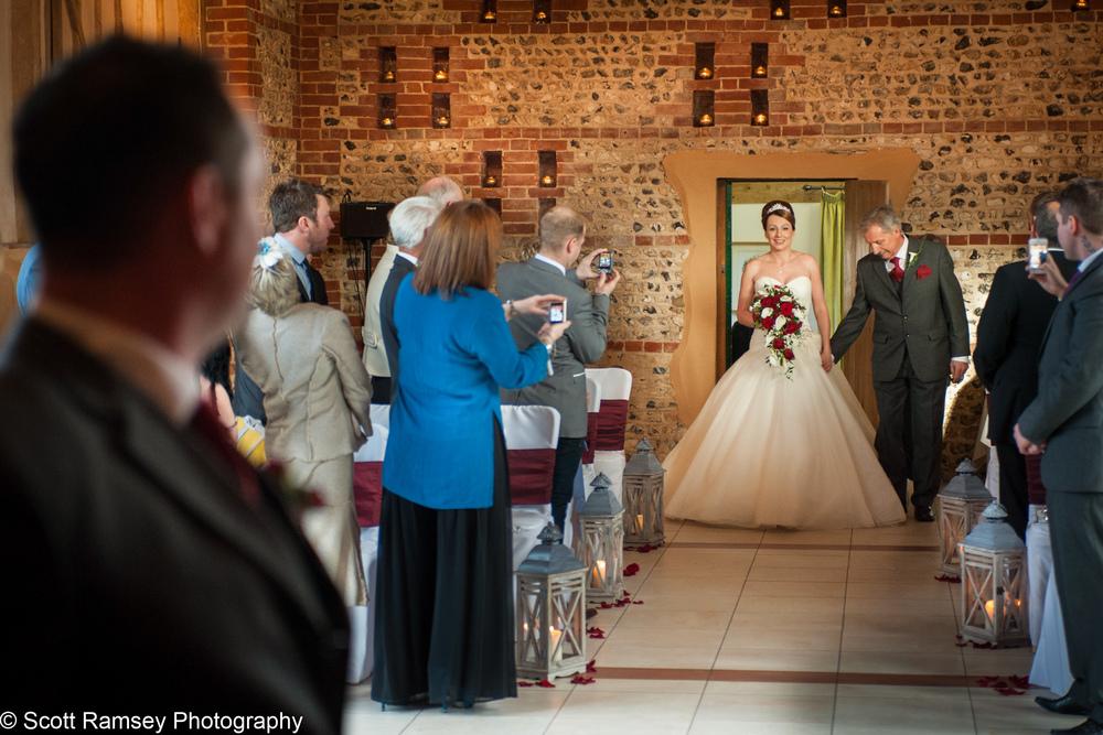 Upwaltham Barns Wedding Bride 15121211
