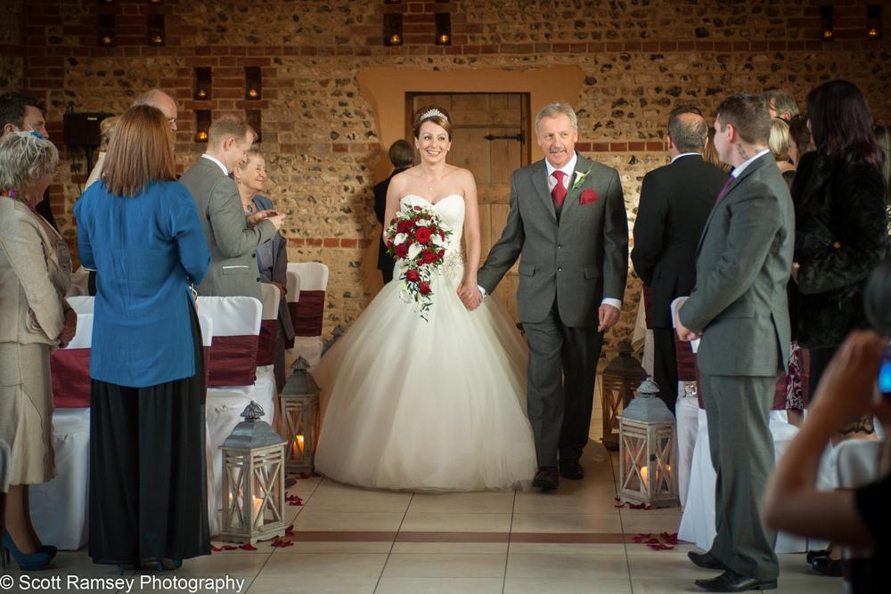 Wedding Upwaltham Barns Bride 15121212