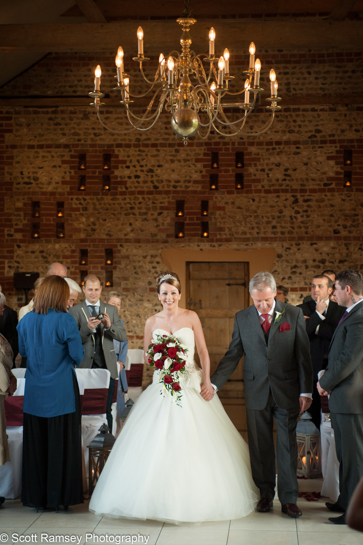 Wedding Upwaltham Barns Bride 15121213