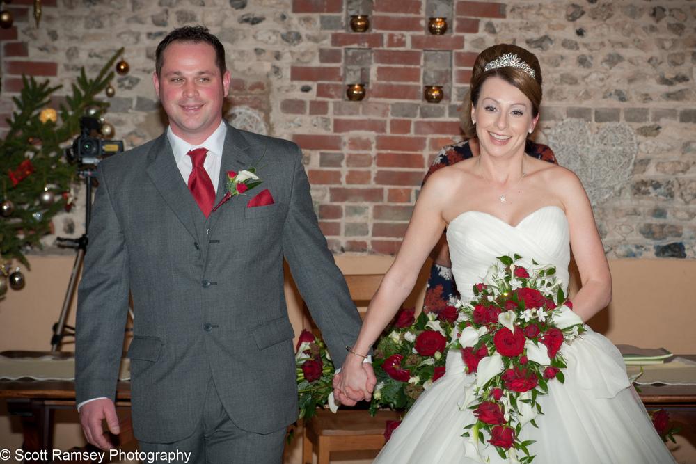 Upwaltham Barns Wedding Happy Couple 15121223