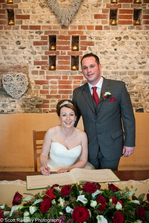 Upwaltham Barns Wedding Register 15121222