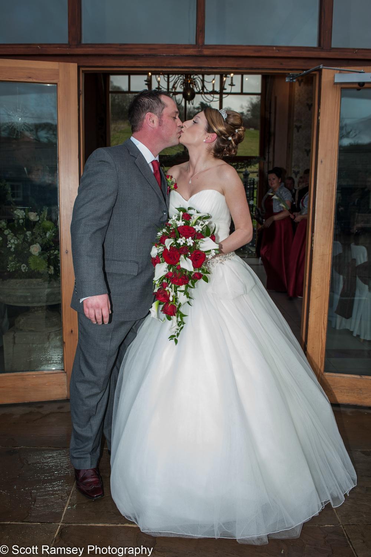 Upwaltham Barns Wedding Kiss 15121224