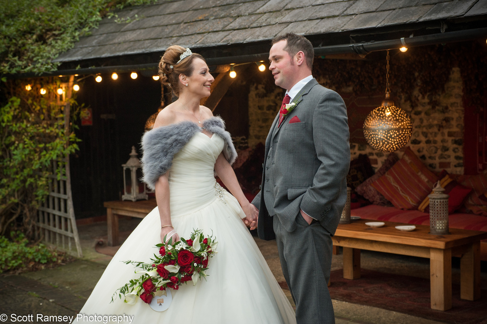 Upwaltham Barns Wedding Groom And Bride 15121229