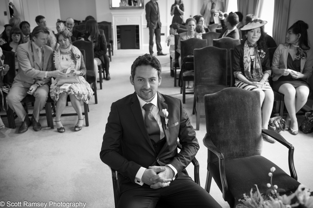 Portsmouth Registry Office Wedding Groom Waiting 040513-06