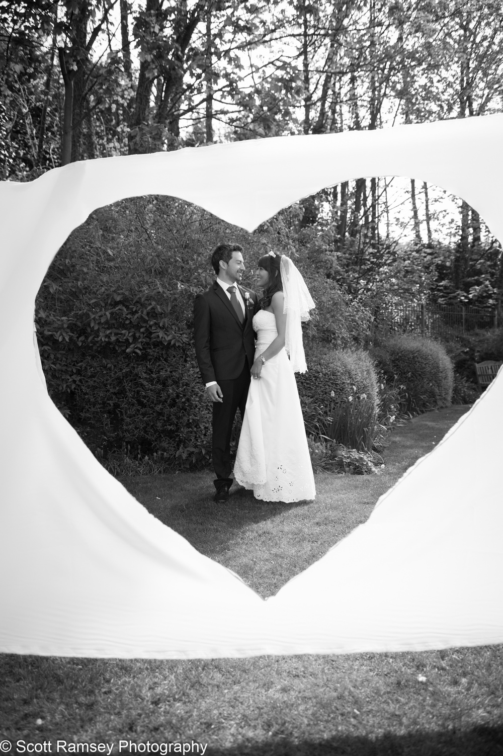 Portsmouth Registry Office Wedding . Chris and Vivien are photographed in the garden of Milldam House (Portsmouth Registry Office) in Portsmouth, Hampshire.