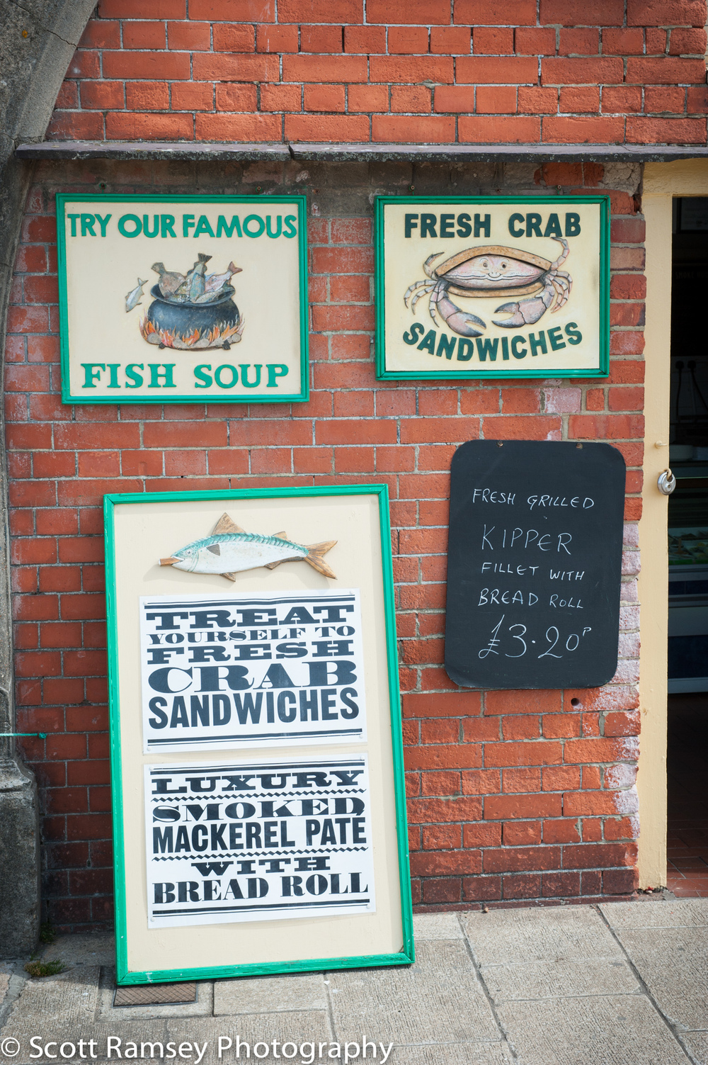 Fresh Fish Signs Brighton Seafront