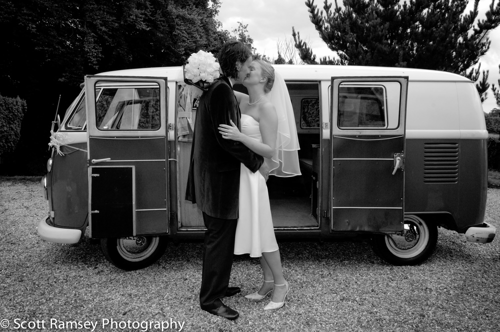 Chichester Wedding Photography - Fontwell House, Fontwell Park, Near Chichester in West Sussex Campervan Wedding.