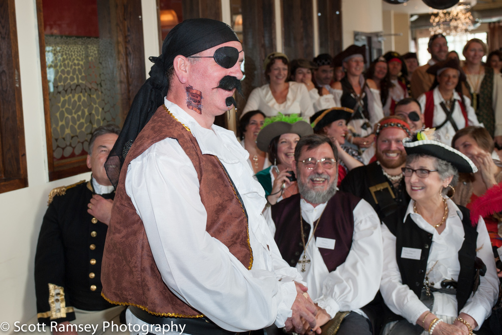 Brighton-Wedding-Photography-Pirate-Theme-Laughing-Guests-140913