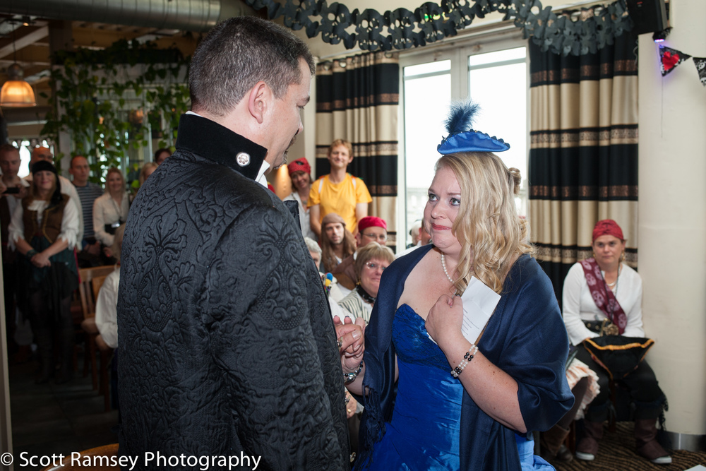Brighton-Wedding-Photography-Pirate-Theme-Bride-Crying-During-Vo