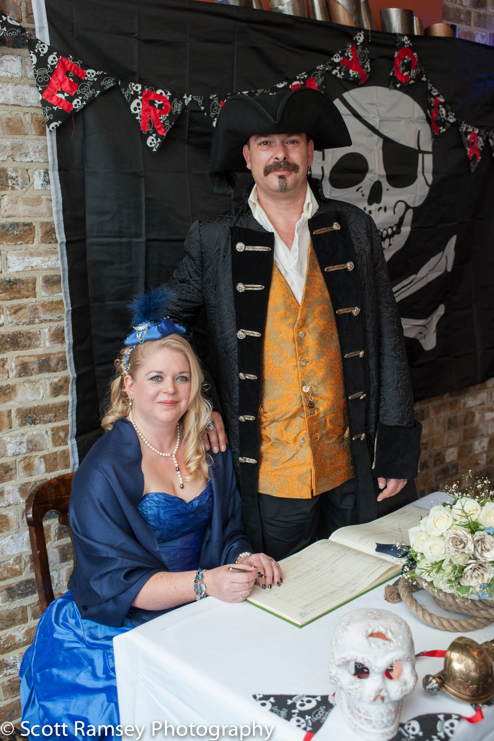 Brighton-Wedding-Photography-Pirate-Theme-Bride-Groom-Sign Regis