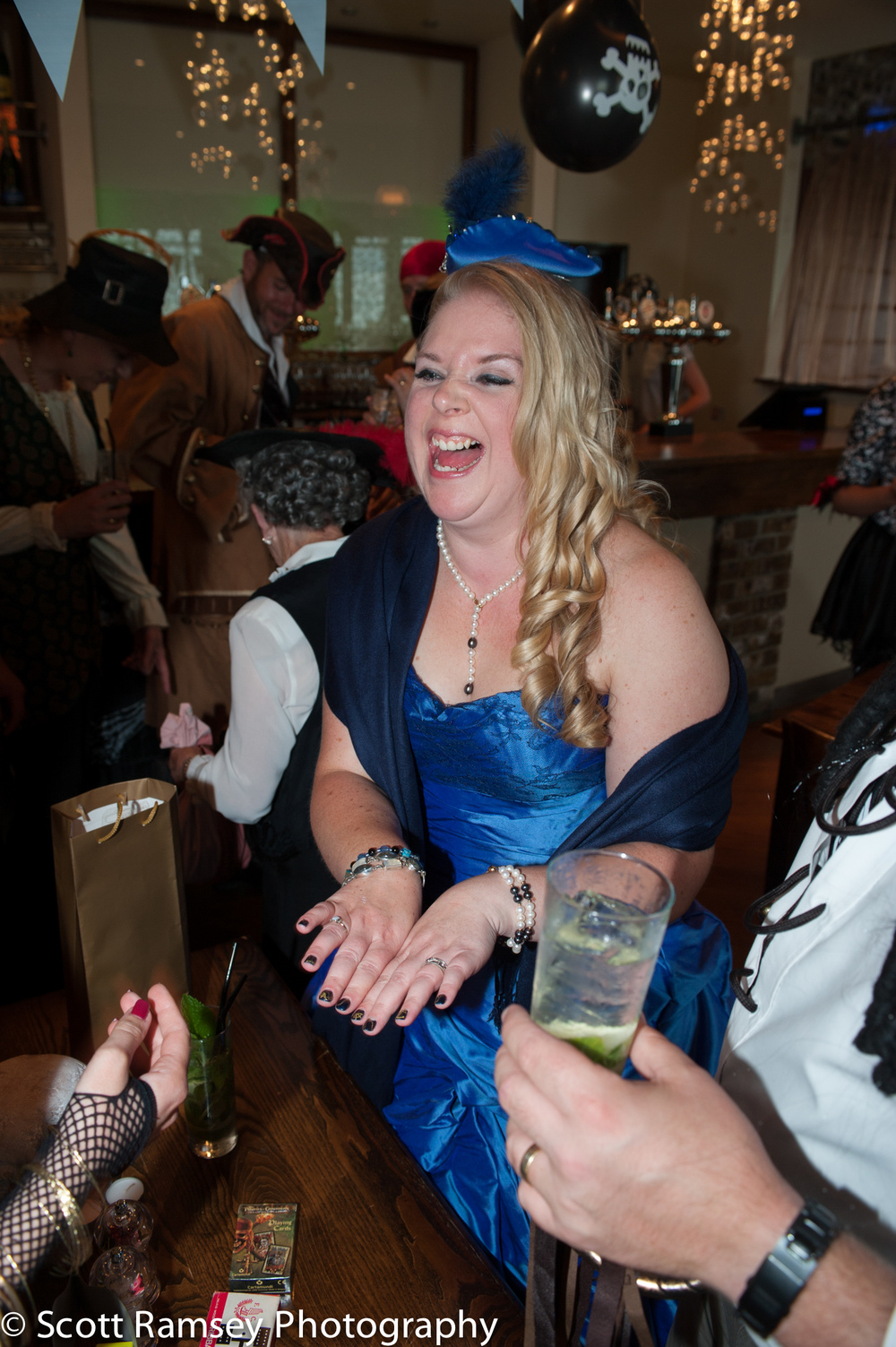 Brighton-Wedding-Photography-Pirate-Theme-Bride-Laughs-Reception