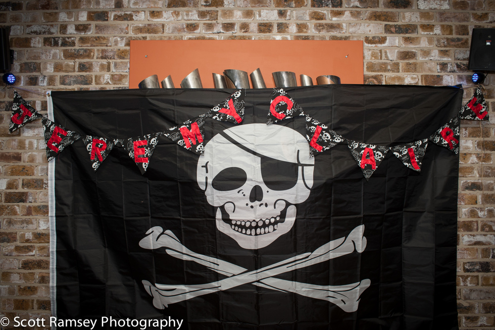 Brighton-Wedding-Photography-Pirate-Theme-Bunting-Skull-Crossbon