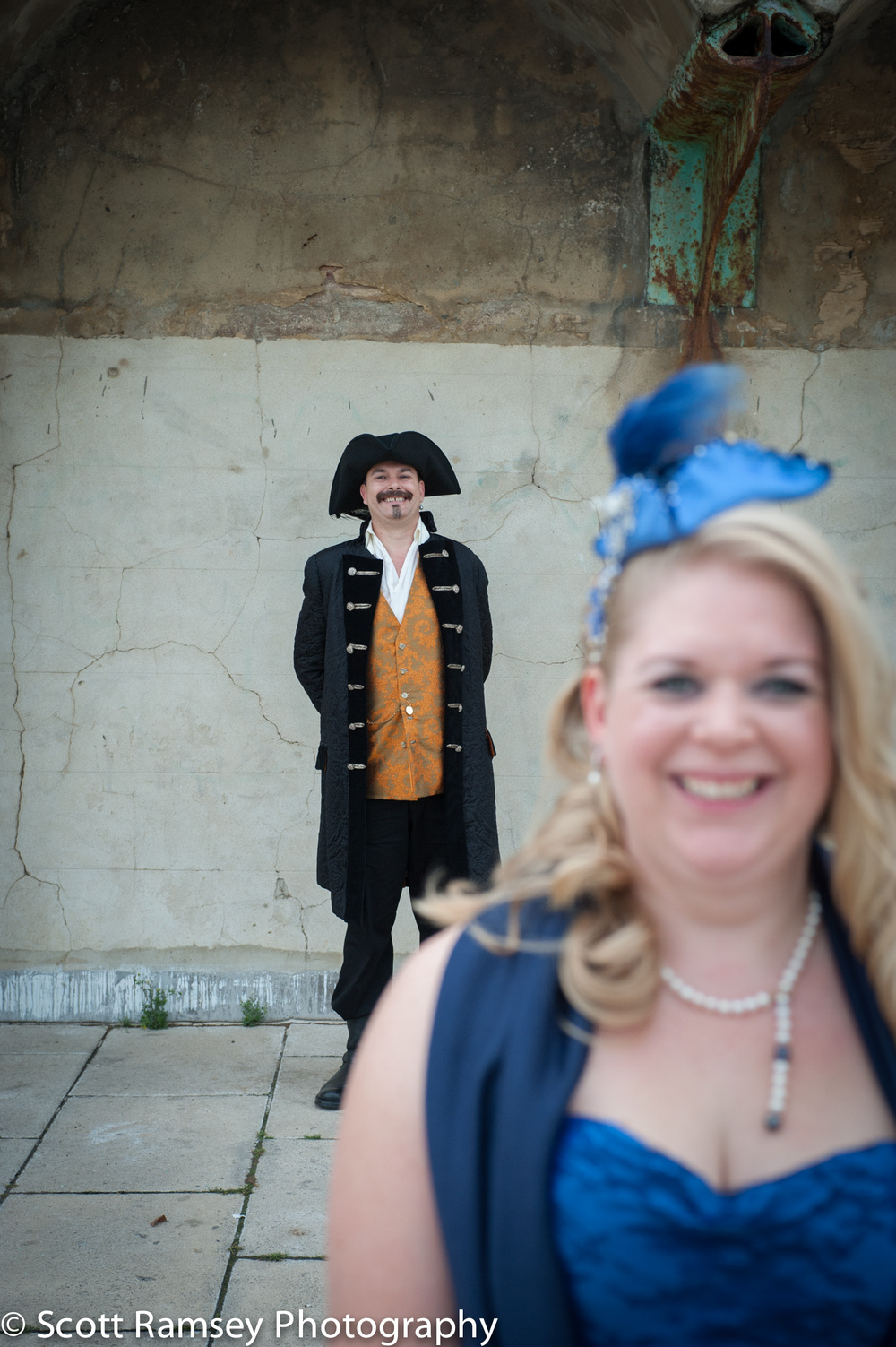 Brighton-Wedding-Photography-Pirate-Theme-Fun-Bride-Groom-Arches