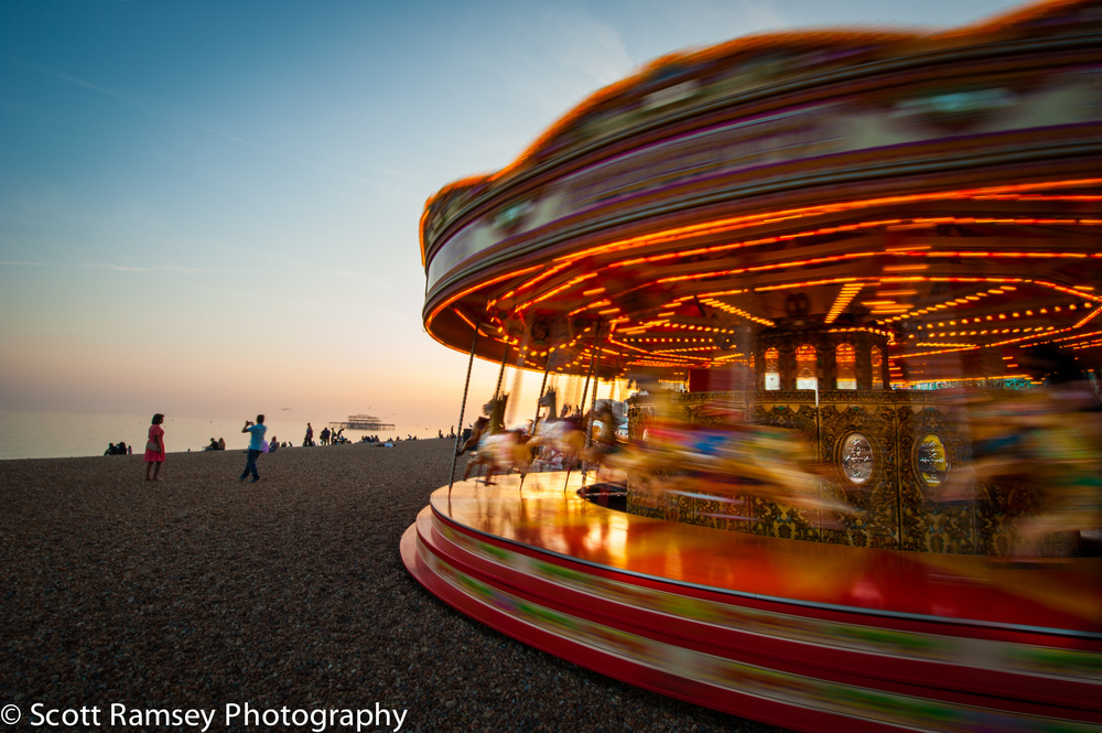Brighton beach carousel.