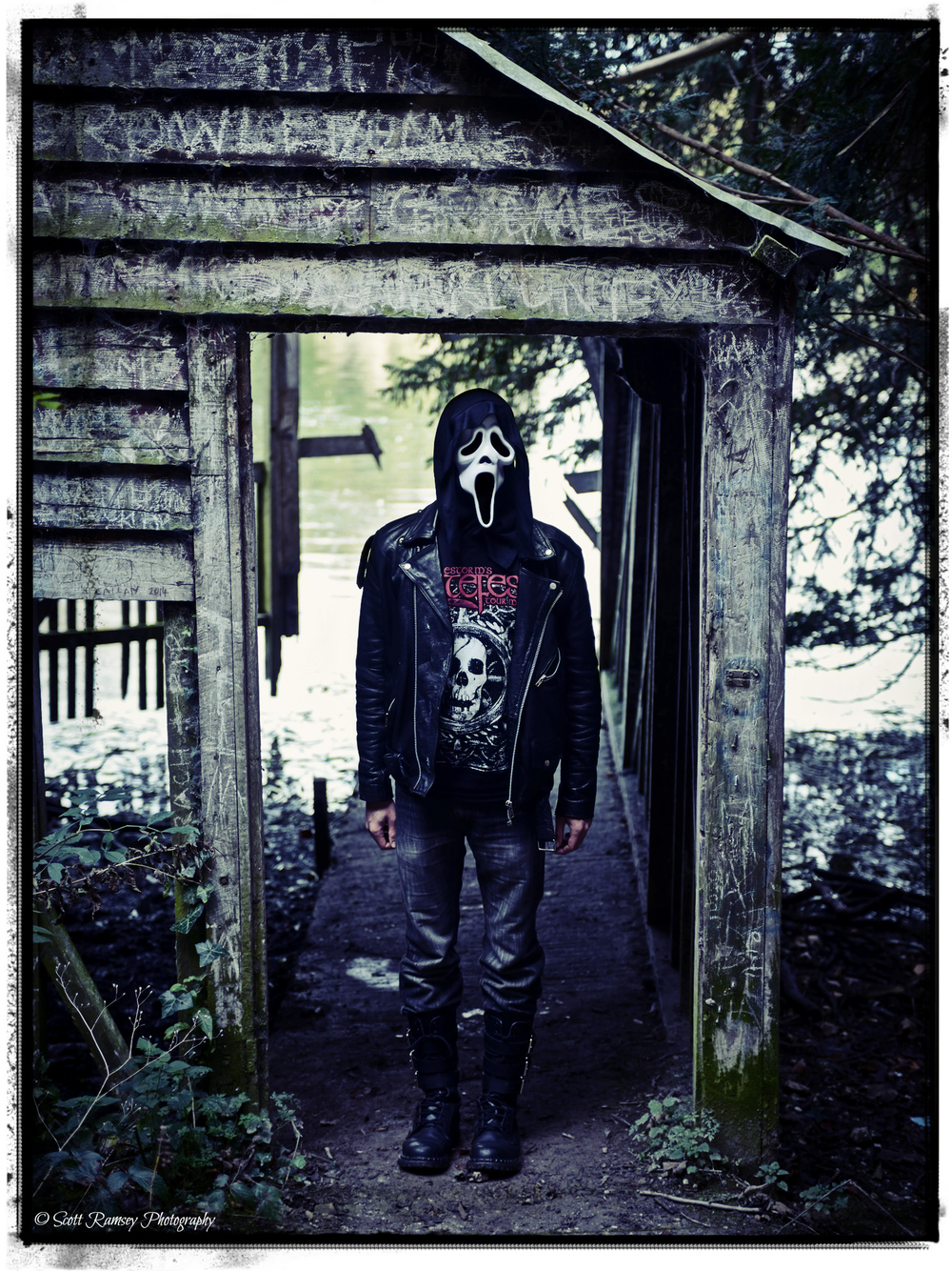 Halloween photo shoot at an abandoned boat house. © Scott Ramsey Photography