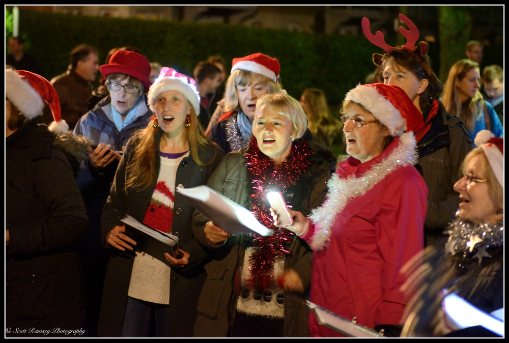Carol singers sing traditional carols during the Christmas Celebrations event in East Preston, West Sussex.