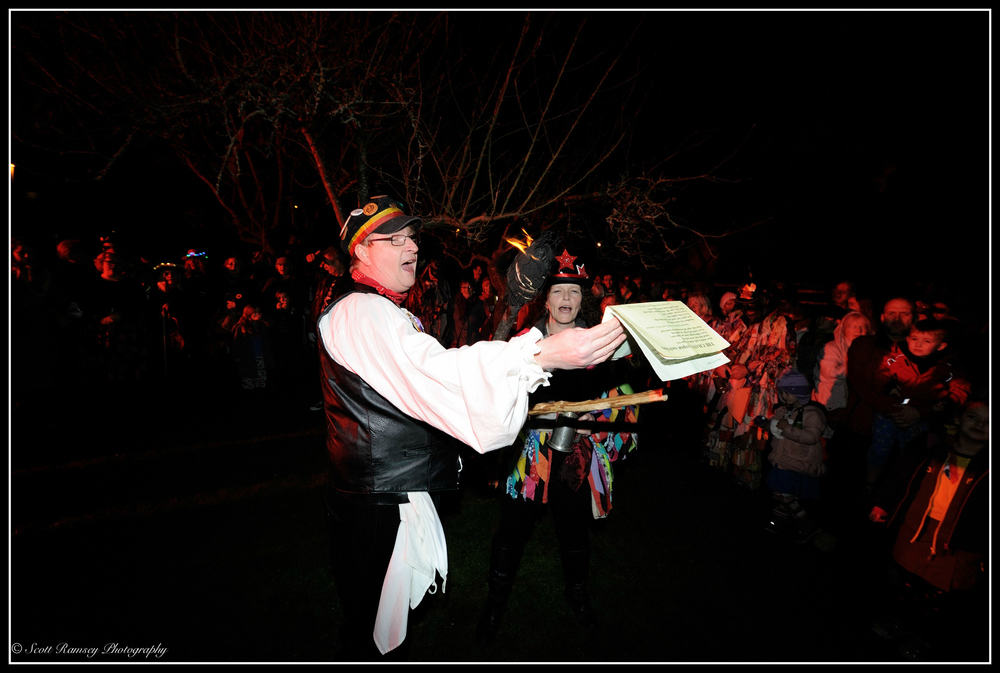 The Wassail chant is read out during the Wassail at Tarring Village.