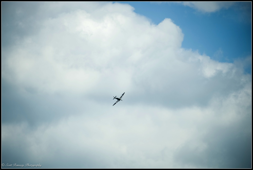 A Spitfire in the skies above Ramsgate in Kent, UK during a weekend of events to commemorate the 75th anniversary of Operation Dynamo. ©Scott Ramsey Photography