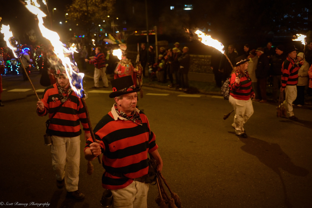 The bonfire procession