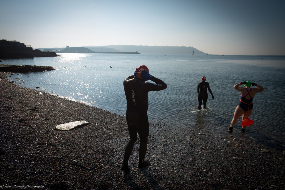 Early Morning Swim Plymouth Devon