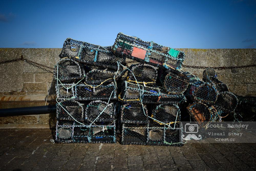 Lobster Pots In St Ives