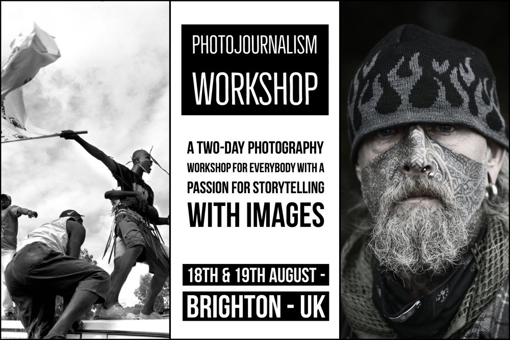 Brighton Photojournalism & Photography workshop by photographers Scott Ramsey and Glenn Edwards.