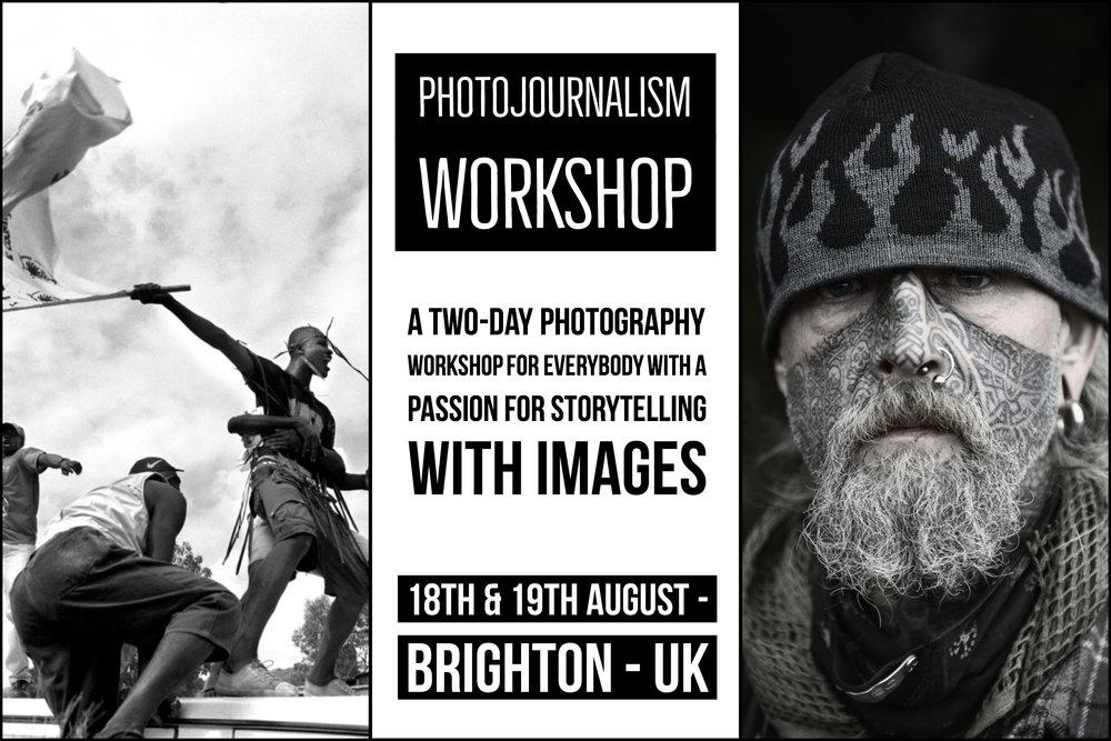 Brighton Photojournalism & Photography workshop by photographers Scott Ramsey and Glenn Edwards.