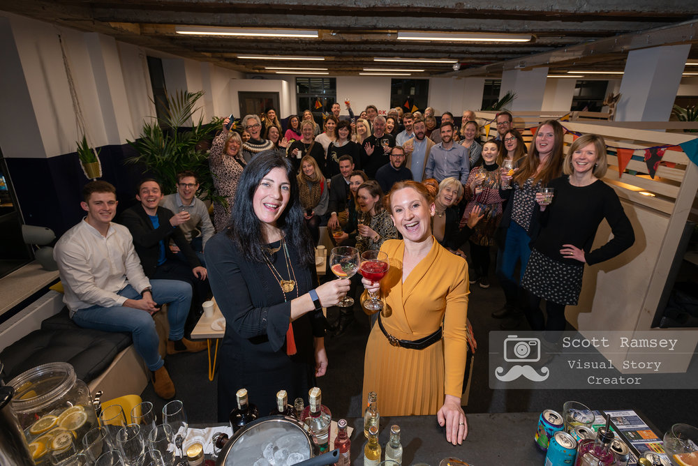 Sussex Event Photography - Rume2, a brand new business offering coworking space for entrepreneurs, opens for business with a cool launch party in Chichester, Sussex. Photo © Scott Ramsey.