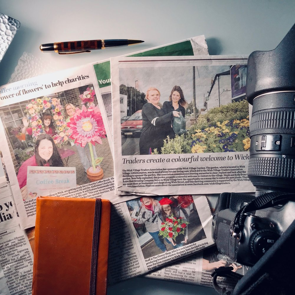 Here's a collection of press cuttings that show some of the photos I've created for my clients that have been used in local newspapers - great publicity for their businesses.