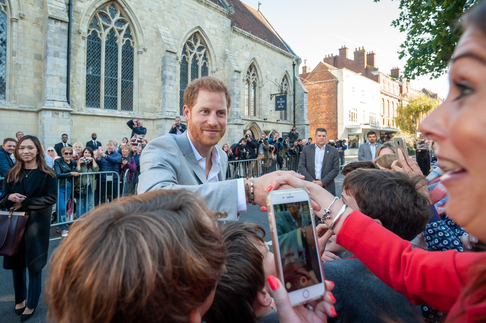 Prince Harry & Meghan Markle Visit Chichester - Daily Mail - Chichester came to stand still when Prince Harry & Meghan Markle visited the city. I spent the day photographing their visit, and this photo was used by the Daily Mail and a Japanese TV show.