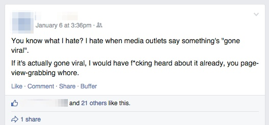 """4x the engagement of his normal posts... It almost """"went viral"""" itself."""