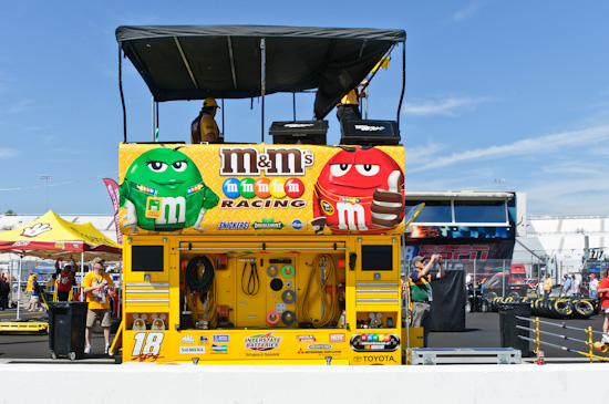NASCAR, pit box, Kyle Bush, M&Ms, Richmond