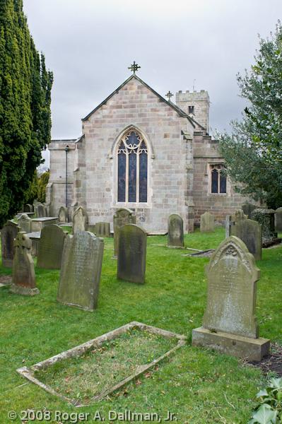 church, cemetery, ripley, England, UK