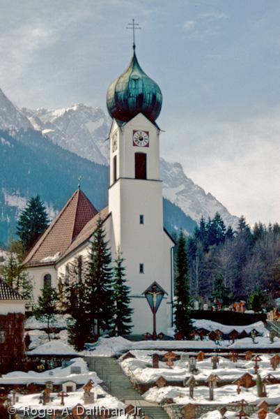 church, Garmisch, Germany, cemetery