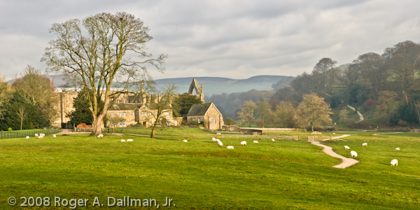 Bolton Abbey, UK, England, panorama, North Yorkshire