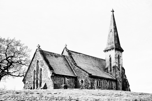 blubberhouses, england, yorkshire, church, high contrast