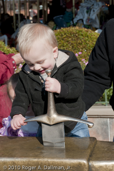Sword in the stone at DisneyWorld, Orlando, Florida.