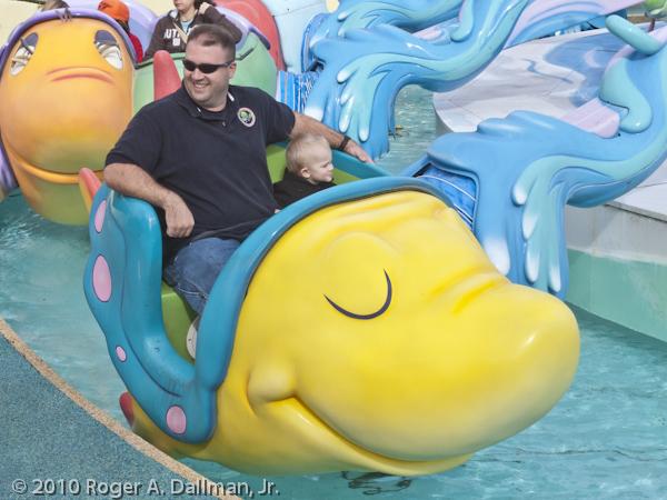 Riding the fish in Universal Studios, Orlando, Florida