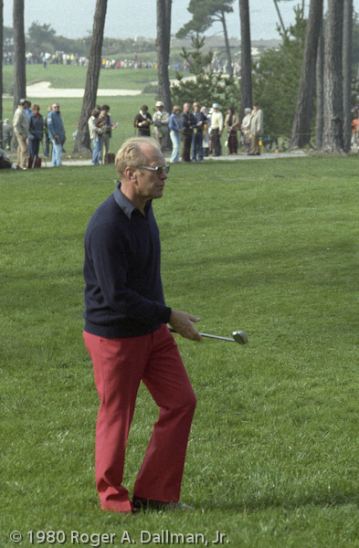 Gerald Ford playing in the 1980 Crosby Golf Tournament