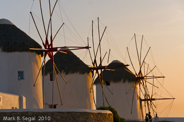 Sunset at the Mykonos Windmills