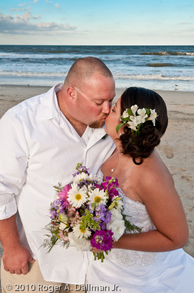 wedding on the beach, Cape Hatteras, NC
