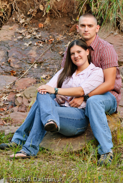 couple in their engagement photo, Manassas, Va