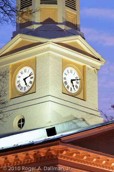 Old courthouse clock tower in Warrenton, Virginia