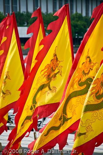 dragon flags in Georgetown, VA