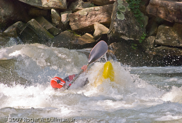 kayaking on the Nantahala River, North Carolina
