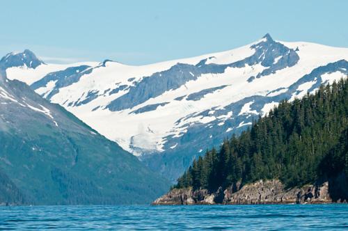 Glaciers in Kenai Fjords National Park, Seward, Alaska.