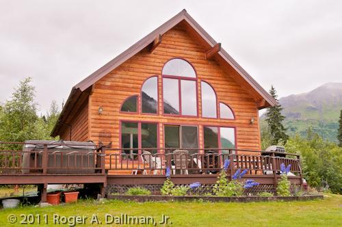 beautiful A-frame cabin