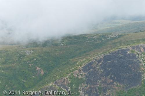 Low clouds on a flight in Denali National Park, Alaska