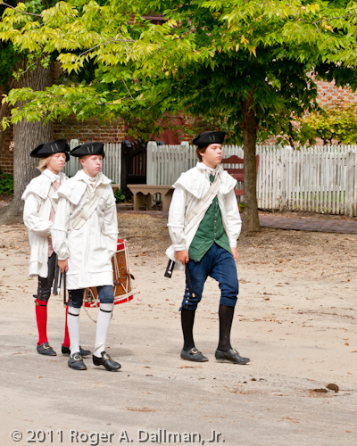 drum and fife boys in Williamsburg, Virginia